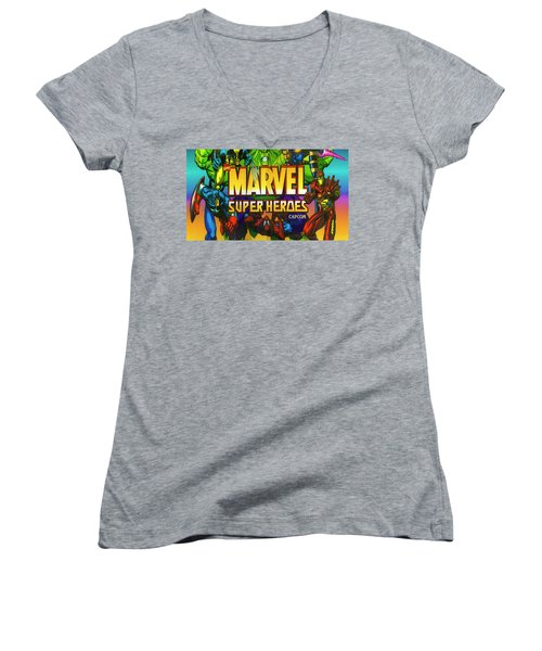 Marvel Super Heroes Women's V-Neck