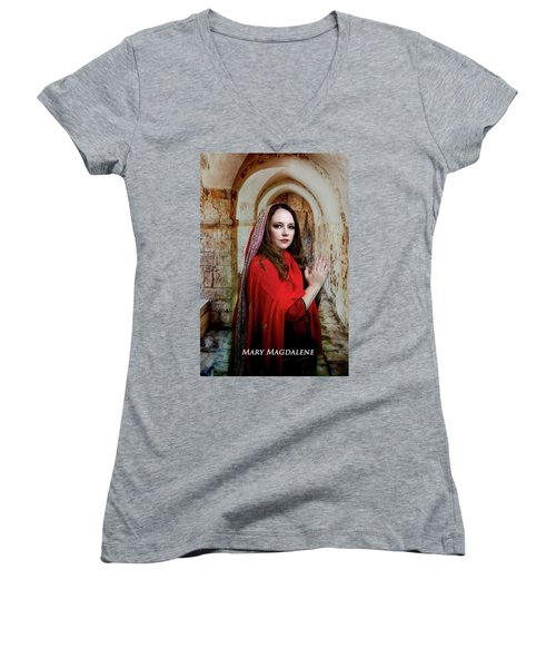 Mary Magdalene Women's V-Neck (Athletic Fit)