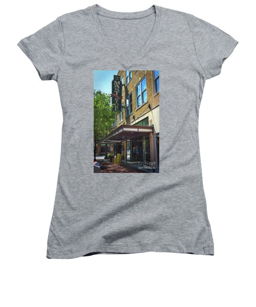 Women's V-Neck T-Shirt (Junior Cut) featuring the photograph Mast General by Skip Willits