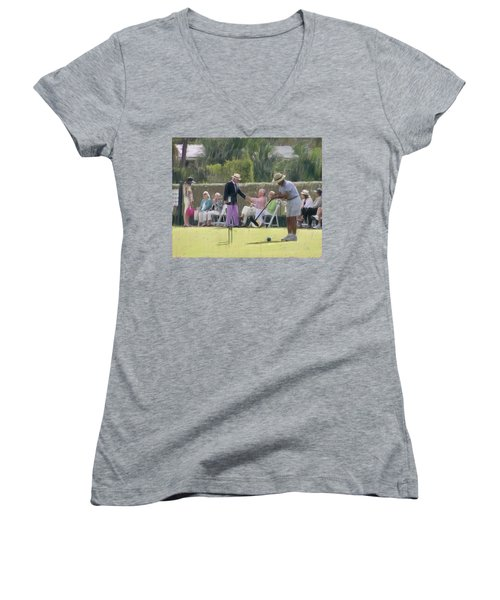 Match Final Women's V-Neck T-Shirt (Junior Cut)