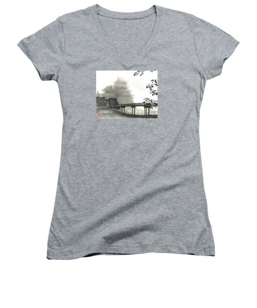 Matsumoto Morning Mist Women's V-Neck T-Shirt