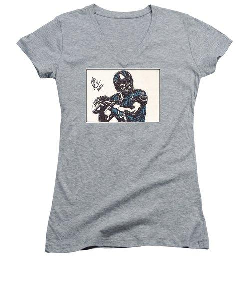 Matthew Stafford Women's V-Neck T-Shirt