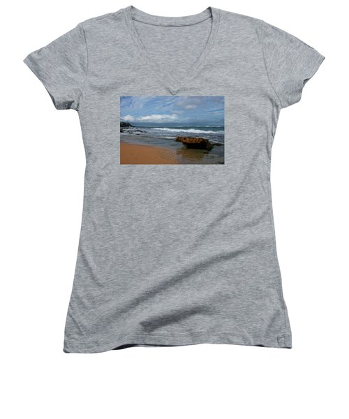 Maui Beach  Women's V-Neck (Athletic Fit)
