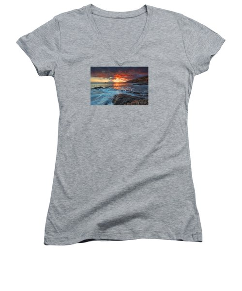 Maui Skies Women's V-Neck T-Shirt (Junior Cut) by James Roemmling