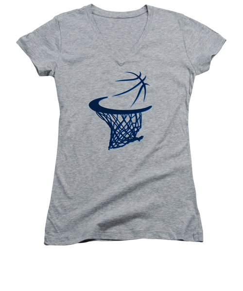 Mavericks Basketball Hoops Women's V-Neck (Athletic Fit)