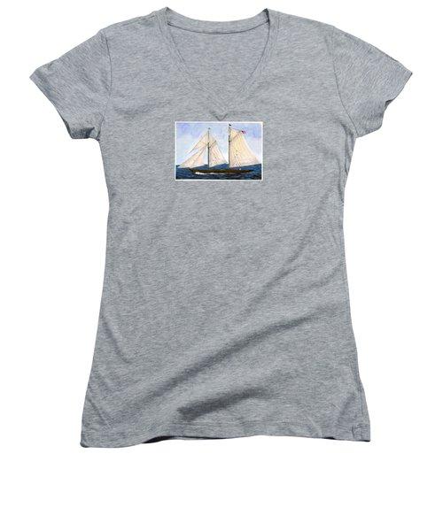 Mavis 1901 Women's V-Neck T-Shirt (Junior Cut) by Cindy Hitchcock