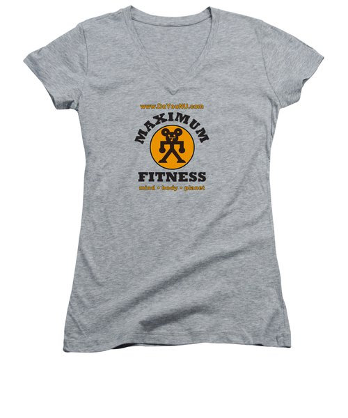 Max Round Women's V-Neck (Athletic Fit)
