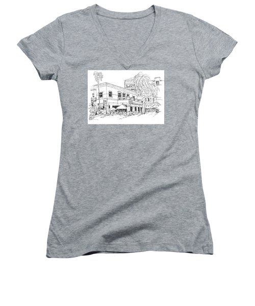 Max's Cafe In Mizner Park, Florida Women's V-Neck (Athletic Fit)