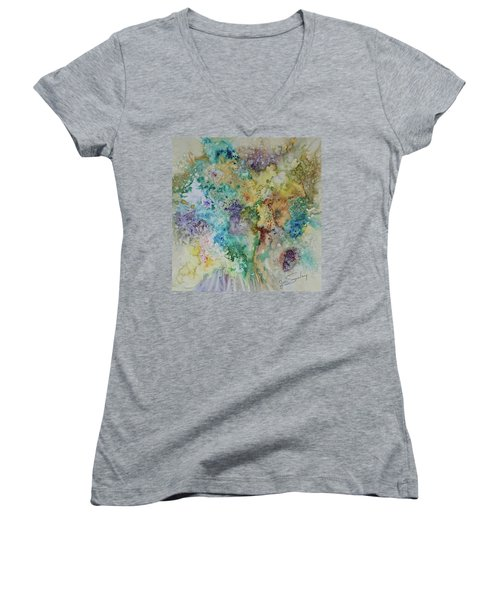 May Flowers Women's V-Neck