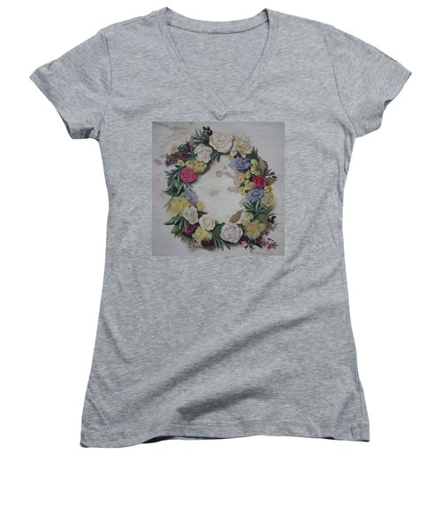 May Wreath Women's V-Neck