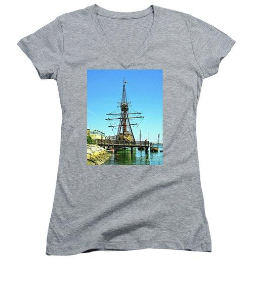 Mayflower II Women's V-Neck T-Shirt
