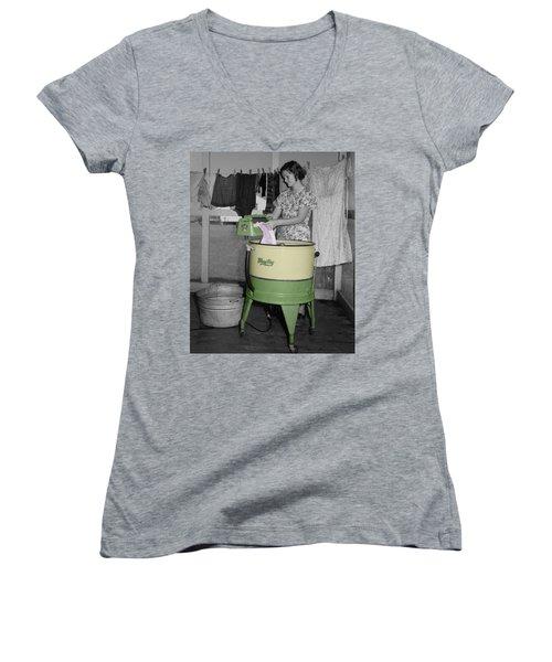 Maytag Woman Women's V-Neck T-Shirt