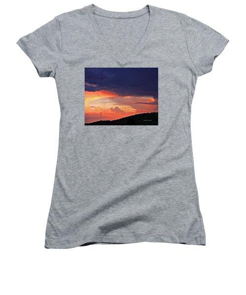 Mazatzal Peak Sunset Women's V-Neck