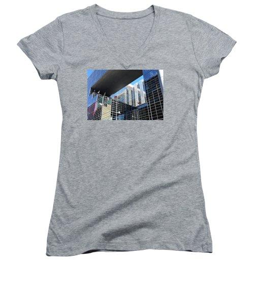 Women's V-Neck T-Shirt featuring the photograph Mcgee Building  Ottawa by John Schneider