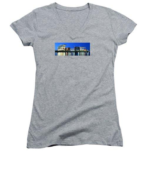 Mclane Stadium Panoramic Women's V-Neck T-Shirt
