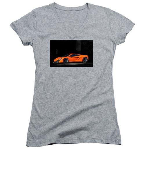 Mclaren 650s  Women's V-Neck T-Shirt