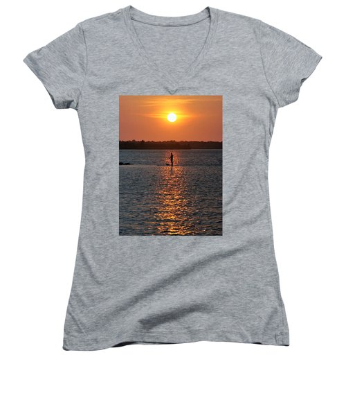 Women's V-Neck T-Shirt (Junior Cut) featuring the photograph Me Time by John Glass