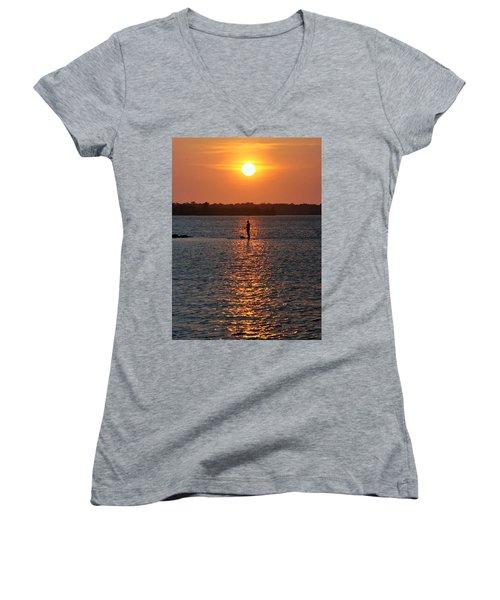 Me Time Women's V-Neck T-Shirt