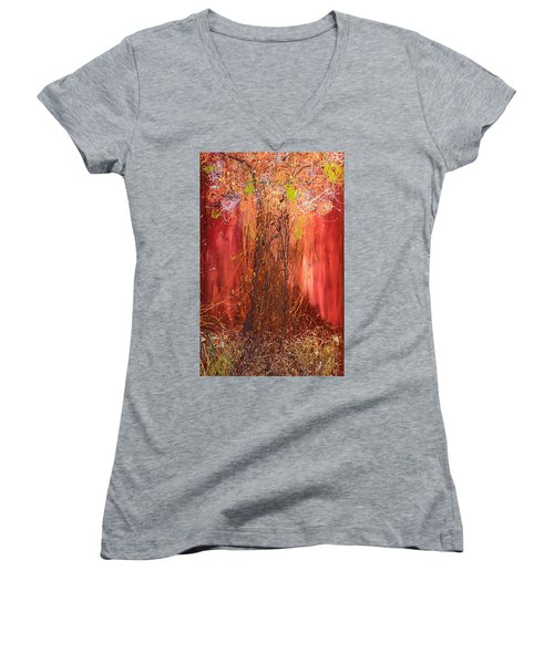 Me Tree Women's V-Neck T-Shirt (Junior Cut) by Gallery Messina