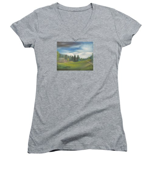 Meadow Dreams Women's V-Neck T-Shirt