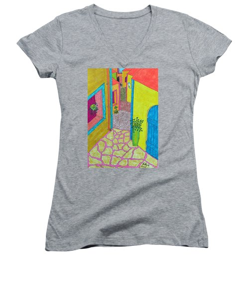 Med Town Women's V-Neck T-Shirt