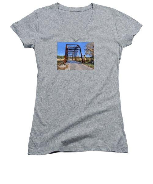 Medford Avenue Bridge Women's V-Neck