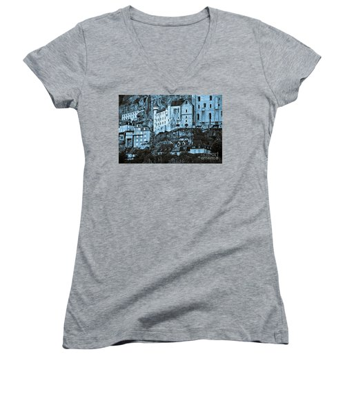 Medieval Castle In The Pilgrimage Town Of Rocamadour Women's V-Neck