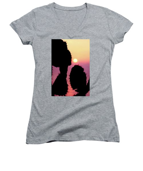 Mediterranean Sunrise Women's V-Neck T-Shirt