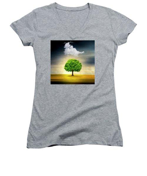 Medusa Rain Women's V-Neck T-Shirt
