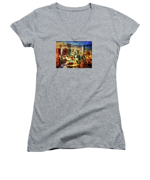 Megapolis Women's V-Neck T-Shirt
