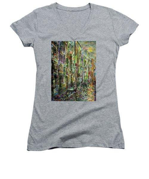 Melanconia Women's V-Neck T-Shirt (Junior Cut) by Alfred Motzer
