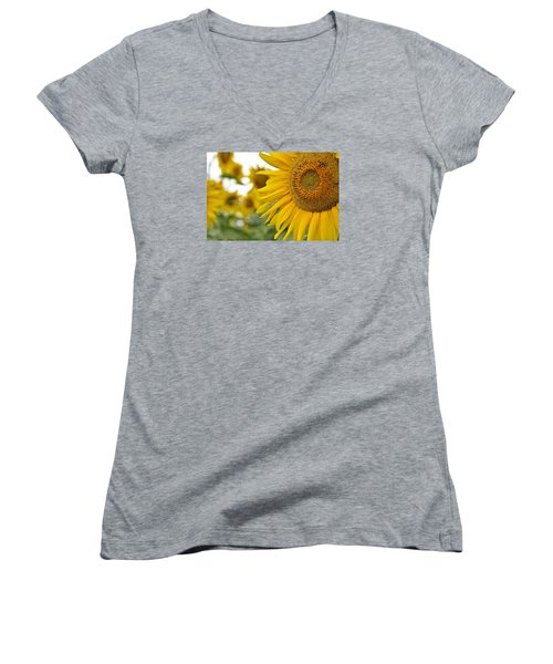 Mellow Yellow Women's V-Neck T-Shirt (Junior Cut)