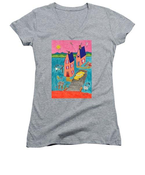 Melon Houses Women's V-Neck T-Shirt