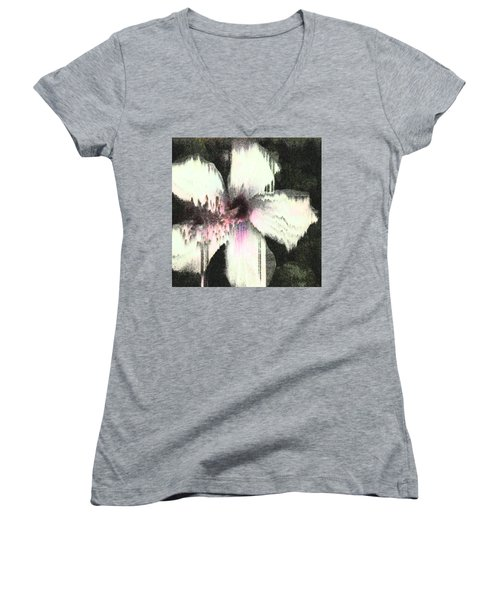 Melting Hibiscus Women's V-Neck T-Shirt