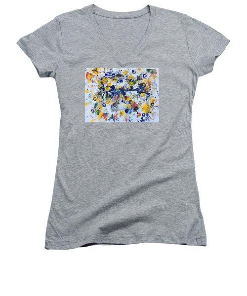 Michigan No 3 Women's V-Neck T-Shirt