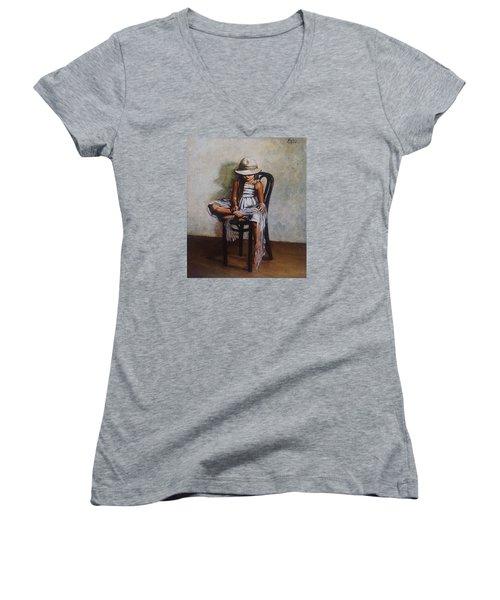Memories Women's V-Neck T-Shirt (Junior Cut) by Natalia Tejera