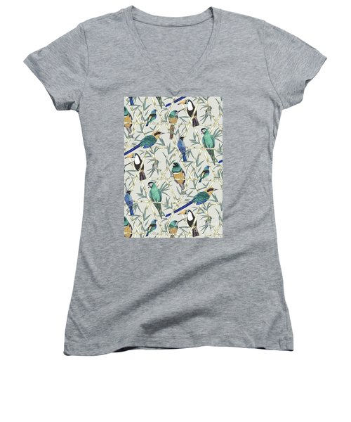 Menagerie Women's V-Neck T-Shirt (Junior Cut) by Jacqueline Colley