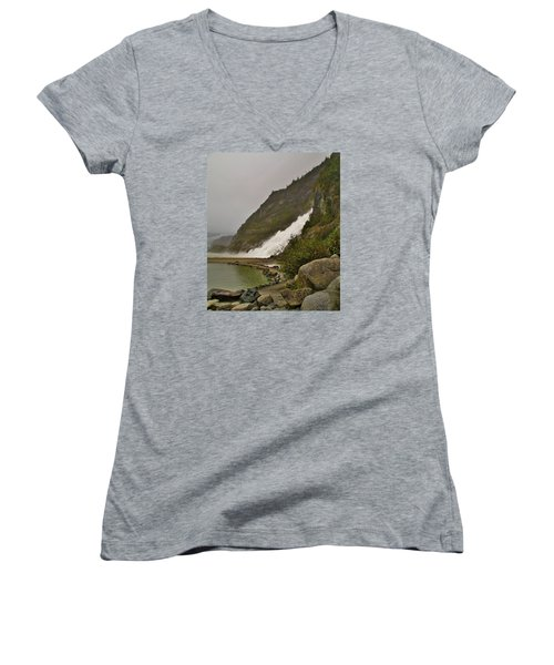 Mendenhall Glacier Park Women's V-Neck (Athletic Fit)