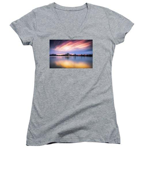 Mental Attitude Women's V-Neck T-Shirt (Junior Cut) by Edward Kreis