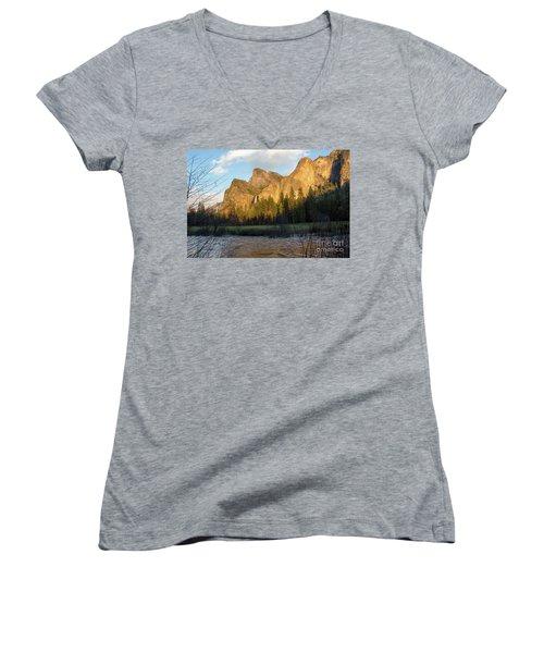 Merced River Yosemite Color Women's V-Neck