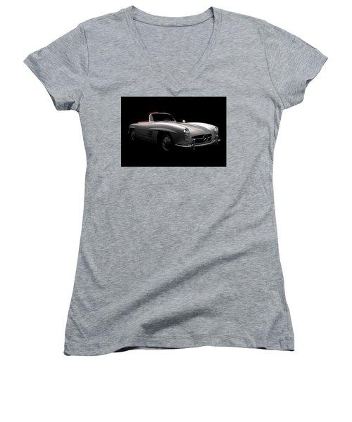 Mercedes 300 Sl Roadster Women's V-Neck