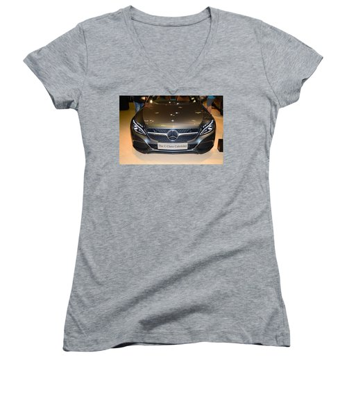 Mercedes Cabriolet Women's V-Neck T-Shirt