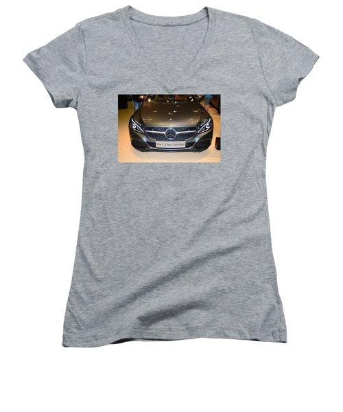 Mercedes Cabriolet Women's V-Neck (Athletic Fit)