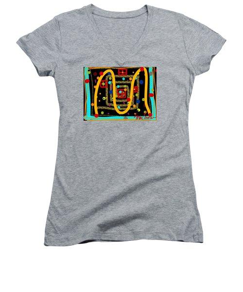 Merry Kissmass Women's V-Neck T-Shirt