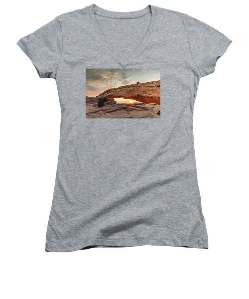 Mesa Arch At Sunrise Women's V-Neck