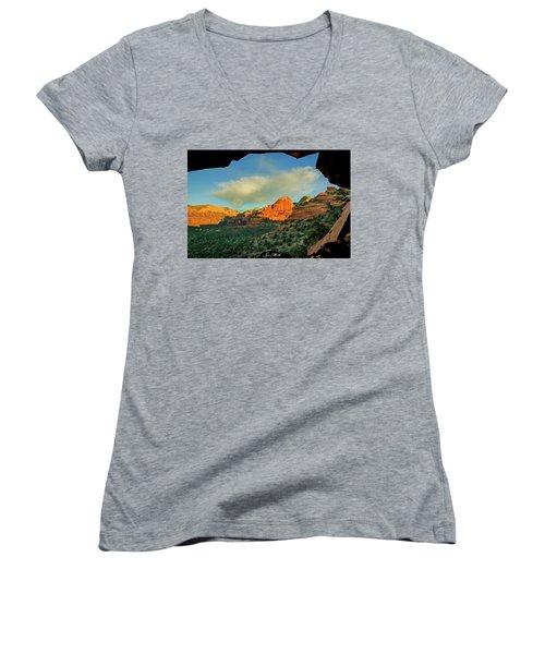Mescal Mountain 04-012 Women's V-Neck T-Shirt