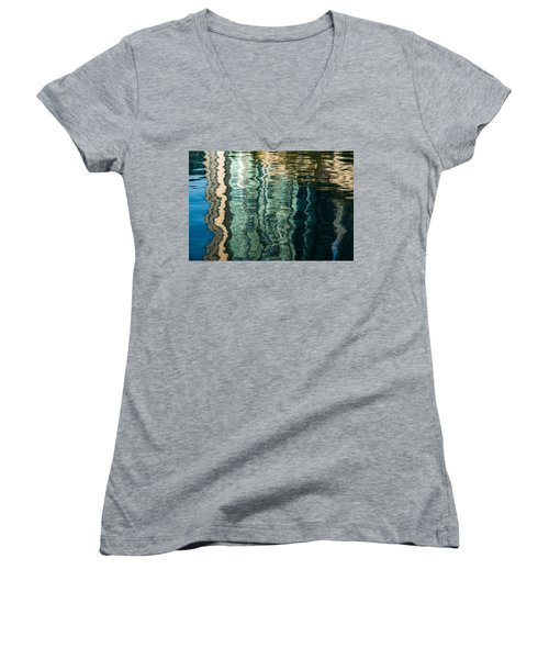 Mesmerizing Abstract Reflections Two Women's V-Neck