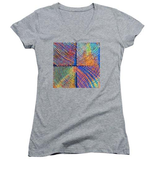 Rainbow Powerwood Women's V-Neck T-Shirt