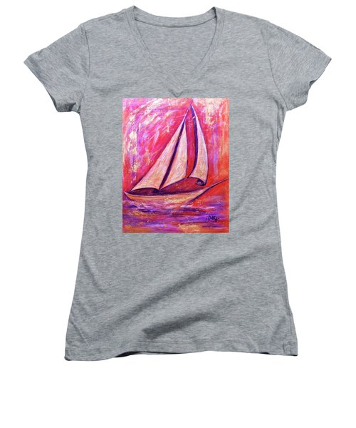 Metallic Sails Women's V-Neck T-Shirt