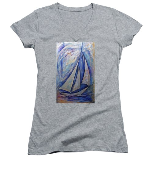 Metallic Seas Women's V-Neck T-Shirt